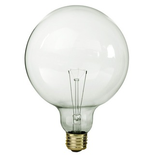 60 watt g40 globe bulb clear 130 volt. Black Bedroom Furniture Sets. Home Design Ideas