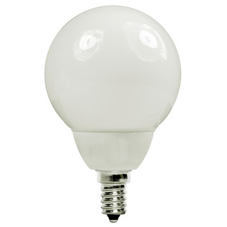 7 Watt - G16 CFL - 30 W Equal - 5000K Full Spectrum - Min. Start Temp. 0 Deg. F - 80 CRI - 50 Lumens per Watt - 15 Month Warranty - Candelabra Base - Energy Miser FE-G16-7W/50K screw in CFL