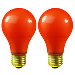 40 Watt - Opaque Orange - A19 - 130 Volt - 4,000 Life Hours - Party Light Bulb - Premium Quality Brand 04260A