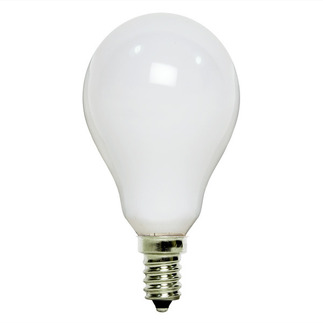 60 Watt - A15 - Frosted - 130 Volt - 1,000 Life Hours - Appliance and Ceiling Fan Bulb - Candelabra Base - Satco S4163