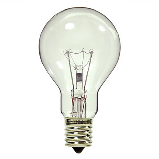 40 Watt - A15 - Clear - 120 Volt - 1,000 Life Hours - Appliance and Ceiling Fan Bulb - Intermediate Base - Satco S4164