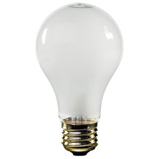 50 / 100 / 150 Watt - A21 - White Coated - 120 Volt - 3-Way Halogen Light Bulb - Satco S4506