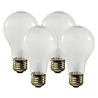52 Watt - Frosted - Energy Efficient A19 Light Bulb - 130 Volt - 1,500 Life Hours - Satco S4991