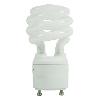 15 Watt - 60 W Equal - Warm White 2700K - CFL Light Bulb - GU24 Base - Satco S8204