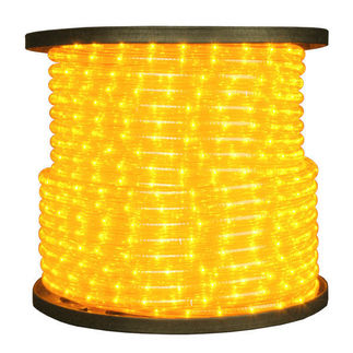 Incandescent - Yellow - Rope Light - 3/8 in. - 2 Wire - 120V