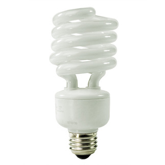 27 Watt - 100 W Equal -  4100K  Cool White - Min. Start Temp. -20 Deg. F - 82 CRI - 68 Lumens per Watt - 15 Months - TCP 28927M - 41- 277Screw In CFL