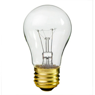 40 Watt - A15 - 130 Volt - Medium Base - Appliance and Ceiling Fan Light Bulb - Satco S3810 Ceiling Fan Light Bulb