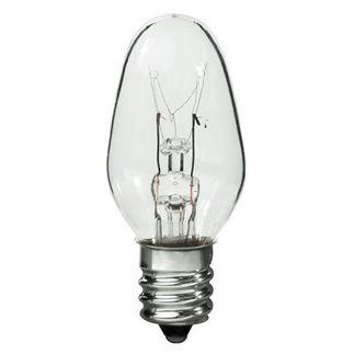 7 Watt - C7 - 120 Volt - 3,000 Life Hours - Candelabra Base - Incandescent Light Bulb - Satco S3691 C7 Sign Bulb