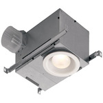 Recessed Fan/Light - 70 CFM - 1.5 Sones - 6 in. - White Trim  - Broan 744