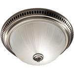 Satin Nickel - Fan/Light - Frosted Glass - 70 CFM - 3.5 Sones - 13-1/8 in. Dia. Base. - 4 in. Duct Connectors - Broan 741SN