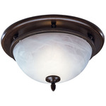 Oil-Rubbed Bronze - Fan/Light - White Alabaster Glass - 70 CFM - 3.5 Sones - 13-1/8 in. Dia. Base - 4 in. Duct Connectors - Broan 754RB
