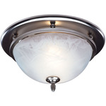 Satin Nickel - Fan/Light - White Alabaster Glass - 70 CFM - 3.5 Sones - 13-1/8 in. Dia. Base. - 4 in. Duct Connectors - Broan 754SN