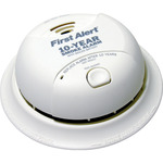 Smoke Alarm - Dual Ionization Sensor - Detects Flaming Fires - Battery Operated - Sealed Lithium Battery - First Alert SA340B