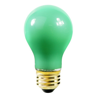 60 Watt - Opaque Green - A19 - 130 Volt - 1,000 Life Hours - Party Light Bulb - Satco S4986