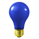 25 Watt - Opaque Blue - A19 - 130 Volt - 1,000 Life Hours - Party Light Bulb - Satco S6092