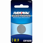 Lithium Coin Battery - 3 Volt - For Keyless Entry and Remote Controls - CR1620 Size - Rayovac KECR1620-1
