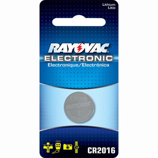 Lithium Coin Battery - 3 Volt - For Keyless Entry and Remote Controls - CR2016 Size - Rayovac KECR2016-1
