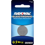 Lithium Coin Battery - 3 Volt - For Keyless Entry and Remote Controls - CR2032 Size - Rayovac KECR2032-1