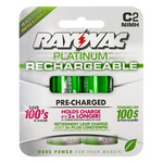 Rechargeable NiMH Battery - C Size - Platinum Series - Rayovac PL714-2
