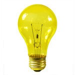 Transparent Yellow Light Bulb
