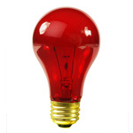 25 Watt - Transparent Red - A19 - 130 Volt - 1,000 Life Hours - Party Light Bulb - Satco S6080