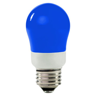 Dimmable - 3 Watt - 25-30 W Equal - Blue - CCFL Light Bulb - A Shape -  TCP 8A03BL
