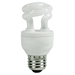 5 Watt - CFL - 30 W Equal - 2700K Warm White - Min. Start Temp. 0 Deg. F - 80 CRI - Satco S7261 Satco-CFL-screw-in