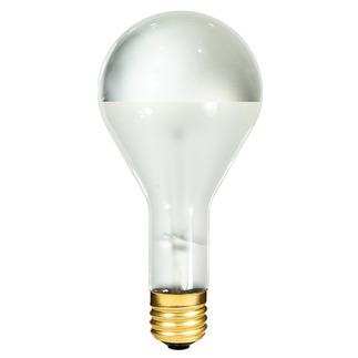 300 Watt - PS35 Bulb - Frosted Silver Bowl - 130 Volt - Mogul Base - Incandescent Light Bulb