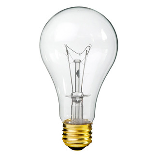150 Watt - Clear - A21 Light Bulb - 130 Volt - 10,000 Life Hours - Premium Quality Brand 150ARS/CL