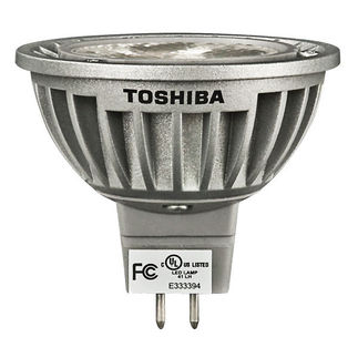 4.5 Watt - LED - 510 Candlepower - Compares to 20 Watt Halogen - 2700K Warm White - 25 Deg. Beam Angle - 40,000 Life Hours - 12 Volt - Toshiba MR4.5WFLWW
