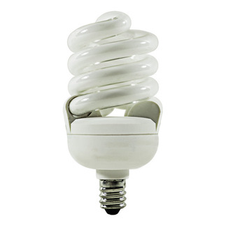 13 Watt - 60 W Equal - Cool White  4100K - CFL Light Bulb - Candelabra Base - TCP  4T213C-41