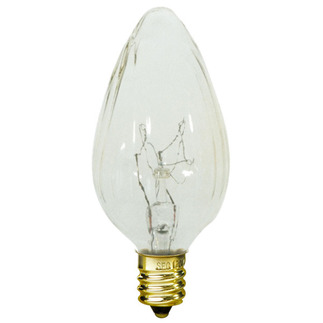 15 Watt - F10 - Wrinkled Glass - 120 Volt - Candelabra Base - Chandelier Decorative Light Bulb - Satco S3360 Chandelier Light