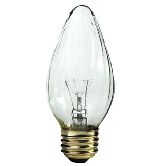 25 Watt - F15 - Wrinkled Glass - 120 Volt - Medium Base - Chandelier Decorative Light Bulb - Satco S3363 Chandelier Light