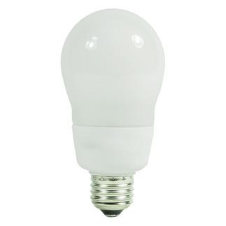 15 Watt  - A-Shape CFL - 40 W Equal - 4100  Full Spectrum  - Min. Start Temp. 0 Deg. F - 82 CRI  - 15 Month Warranty - Satco S7292 - A Shape