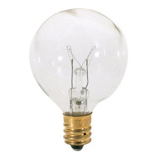 15 Watt - G12.5 - Clear - 1-9/16 in. Dia. - 130 Volt - 2,500 Life Hours - Decorative Globe - Candelabra Base - Satco S3845