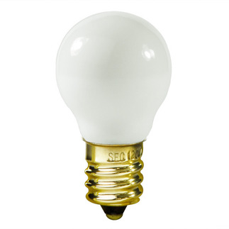 10 Watt - G8 - White - 1 in. Dia. - 120 Volt - 1,500 Life Hours - Decorative Globe - Candelabra Base - Satco S3864