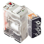 Ice Cube Electromechanical Relay - Plug-In - SPDT - 20 Amp - 24 VAC - PQB 781XAXM4L-24A