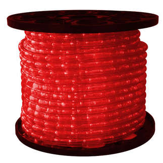 Red LED 3/8 in. 2 Wire 24 Volt Rope Light 150 ft. Spool