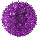 (100 Bulbs) Purple - 120 Volt - Christmas Starlight Sphere - 7.5 in. Diameter - GKI Bethlehem 724706 Starlite Sphere