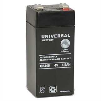 SLA UPG UB445 - AGM Battery - Sealed Lead Acid - 4 Volt - 4.5 Ah Capacity - F2 Terminal