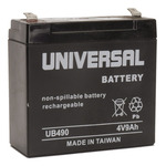 SLA UPG UB490 - AGM Battery - Sealed Lead Acid - 4 Volt - 9 Ah Capacity - F2 Terminal