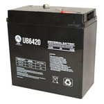 SLA UPG UB6420 - AGM Battery - Sealed Lead Acid - 6 Volt - 42 Ah Capacity - F2 Terminal