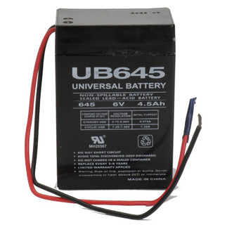 UPG UB645WL - AGM Battery - Sealed Lead Acid - 6 Volt - 4.5 Ah Capacity - WL Terminal