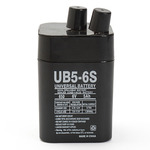 UPG UB650S Lantern - AGM Battery - Sealed Lead Acid - 6 Volt - 5 Ah Capacity - S2 Terminal