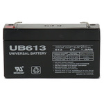 SLA UPG UB613 - AGM Battery - Sealed Lead Acid - 6 Volt - 1.3 Ah Capacity - F1 Terminal