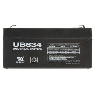 SLA UPG UB634 - AGM Battery - Sealed Lead Acid - 6 Volt - 3.4 Ah Capacity - F1 Terminal
