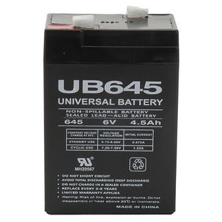 UPG UB645 - AGM Battery - Sealed Lead Acid - 6 Volt - 4.5 Ah Capacity - F1 Terminal