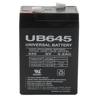 UPG UB645 - AGM Battery - Sealed Lead Acid - 6 Volt - 4.5 Ah Capacity - F1 Terminal