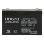 UPG UB670 - AGM Battery - Sealed Lead Acid - 6 Volt - 7 Ah Capacity - F1 Terminal