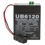 SLA UPG UB6120 TOY - AGM Battery - Sealed Lead Acid - 6 Volt - 12 Ah Capacity - P2 Terminal